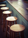 Old fashion  Lunch Counter and stools Royalty Free Stock Photo