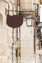Old fashion street lamp with cafe ord bar sign Royalty Free Stock Image