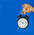 Old-fashioned alarm clock Stock Images