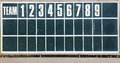 An old fashioned baseball score board photo of Royalty Free Stock Images