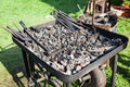 Old fashioned blacksmith furnace Royalty Free Stock Photo
