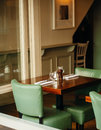 Old fashioned cafe restaurant interior Royalty Free Stock Photos