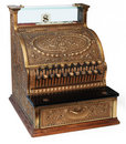Old fashioned cash register, isomorphic view Stock Photography