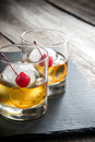 Old Fashioned Cocktails Royalty Free Stock Photo