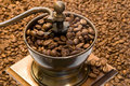 Old fashioned coffee grinder Royalty Free Stock Photography