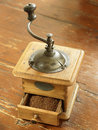 Old-fashioned coffee mill Royalty Free Stock Image