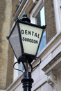 Old Fashioned Dentist Sign Stock Images
