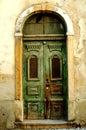 Photo : Old fashioned door italian  wallpaper