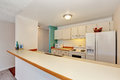 Old fashioned kitchen interior of American Apartment Condominium. Royalty Free Stock Photo