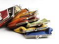 Old fashioned leather wallets Royalty Free Stock Image