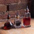 Old fashioned medicine bottles. Old pharmacy bottle Royalty Free Stock Photo
