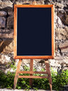 Old fashioned menu board Royalty Free Stock Photos