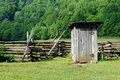 Old-fashioned outhouse Royalty Free Stock Photo