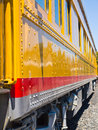 Old fashioned passenger train closeup side view of an Royalty Free Stock Photo