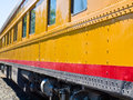 Old fashioned passenger train closeup side view of an Royalty Free Stock Photography