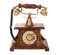 Old fashioned phone Stock Photos