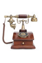 Old-fashioned phone on white isolated background Royalty Free Stock Image