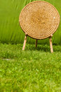 Old fashioned shooting target made of hay Royalty Free Stock Photo