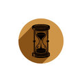 Old-fashioned simple 3d hourglass, time management business icon Royalty Free Stock Photo