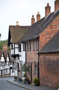 Old fashioned street in Warwick Royalty Free Stock Photography