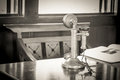 Old-fashioned telephone receiver Royalty Free Stock Photo