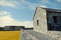 Old fashioned visitor centre in the burren ireland Stock Photography