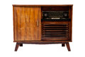 Old-fashioned wooden brown radio box Royalty Free Stock Image