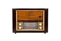 Old-fashioned wooden radio Royalty Free Stock Photo