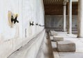 Old faucet in marble the mosque istanbul turkey Royalty Free Stock Image