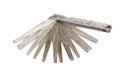 Old  feeler gauge tool Royalty Free Stock Photos