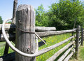Old fence beautiful at a farm Royalty Free Stock Image