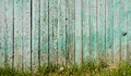 Old fence and green grass Royalty Free Stock Photo
