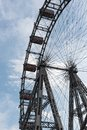 Old ferris wheel in amusement park Prater,  Vienna, Austria Royalty Free Stock Photo