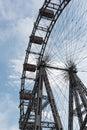 Old ferris wheel in amusement park Prater, Vienna, Austria Royalty Free Stock Photo