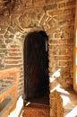 Old ferrous door Stock Images
