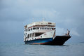 Old ferry boat on water Royalty Free Stock Photo