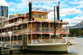 Old ferry brisbane river older style touring across Royalty Free Stock Photo