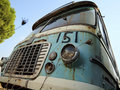 Old fiat bus scrapyard Royalty Free Stock Images