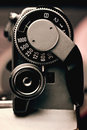 Old film camera detail of the trigger and shutter speed control macro gear Royalty Free Stock Photos