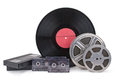 Old film strip, photographic film, record Royalty Free Stock Photo