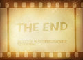Old filmstrip. Movie ending frame Stock Photography