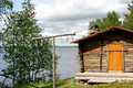 Old Finnish fishery hut Stock Photos