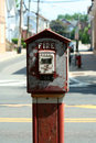 Old fire alarm box Royalty Free Stock Photo