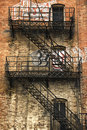 Old Fire escape Royalty Free Stock Photo
