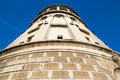 Old fire watch tower foisorul de foc fireman museum in bucharest romania on blue sky Royalty Free Stock Image