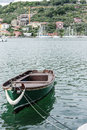 Old fishing boat in the gulf of la spezia Royalty Free Stock Image