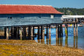 Old Fishing Dock Gig Harbor Washington Stock Photography