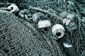 Old fishing nets Royalty Free Stock Photography