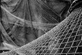 Old fishing nets drying of in leba poland Stock Photography