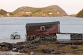 Old fishing shack in Newfoundland NL Canada Royalty Free Stock Photo
